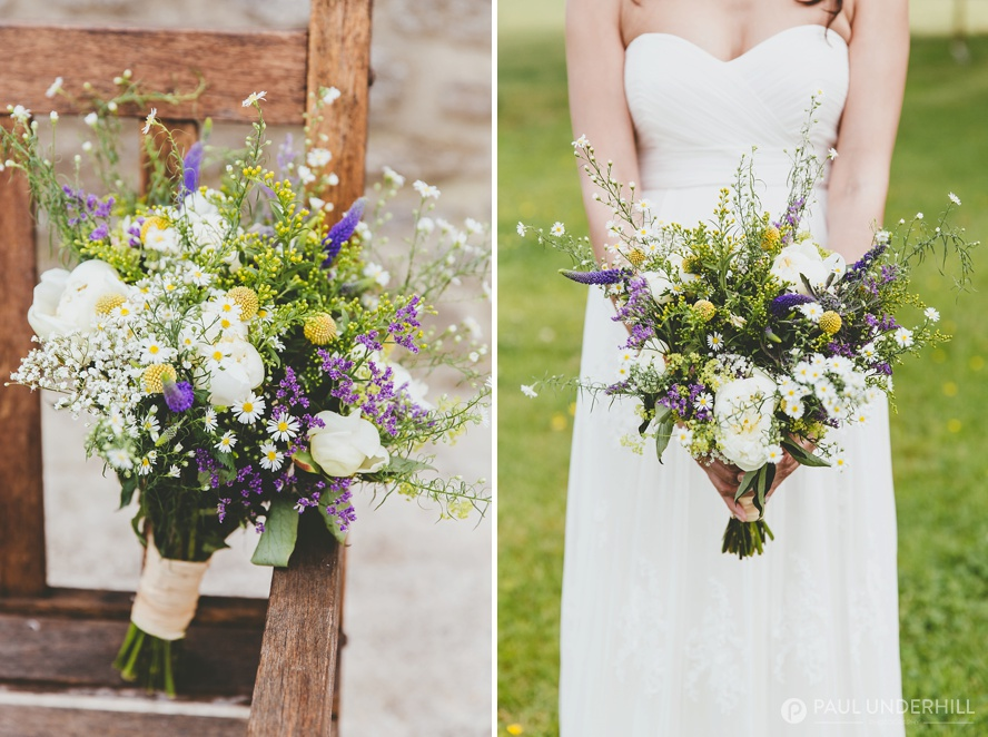 Wedding bouquet wild flowers