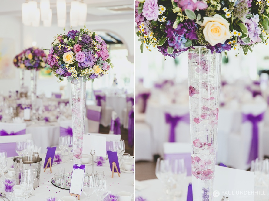 Wedding flowers Italian Villa Poole