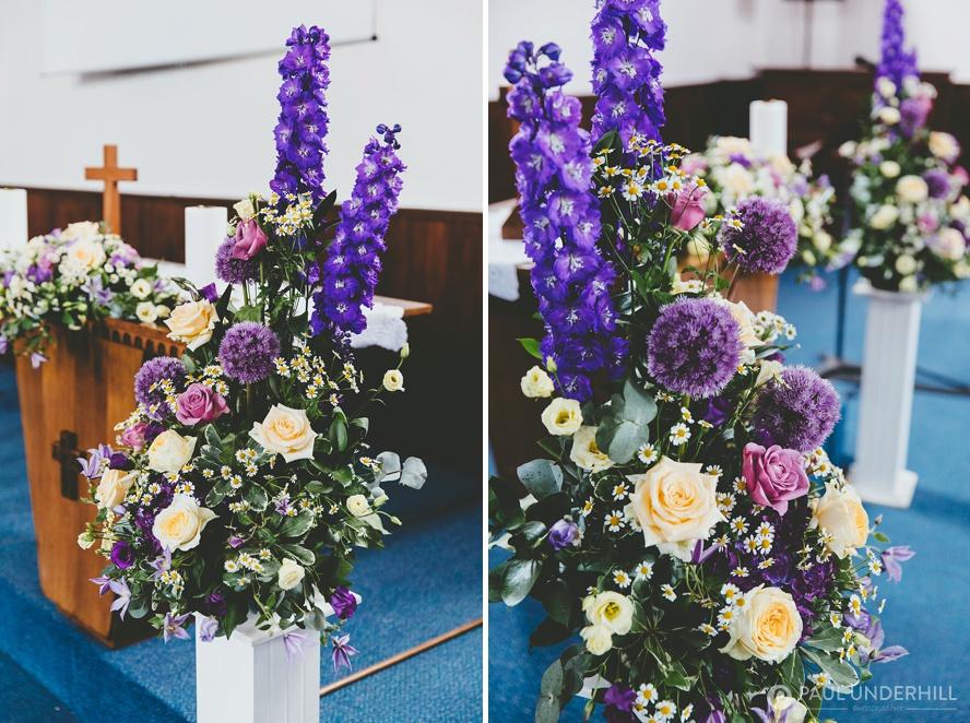 Wedding flowers purple pink blue