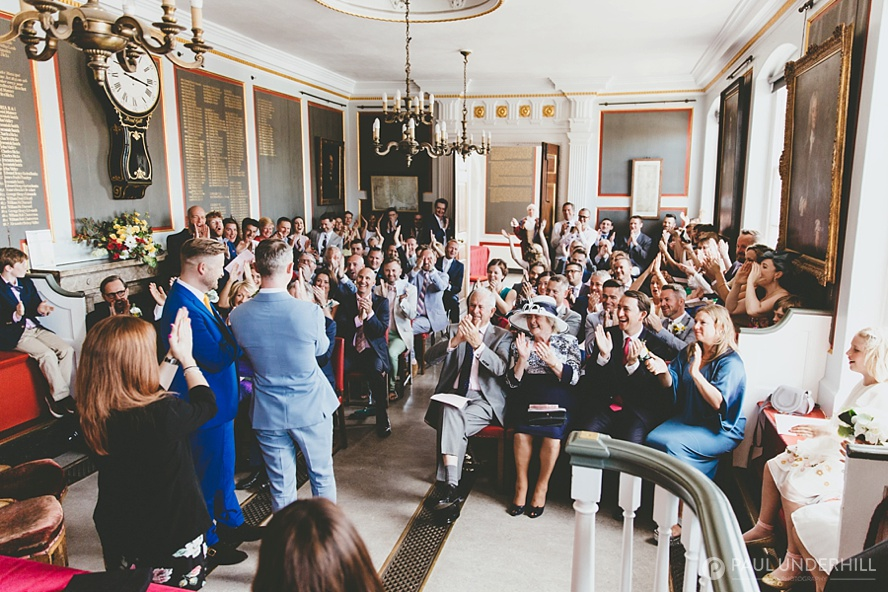 Wedding guests celebrate gay marriage