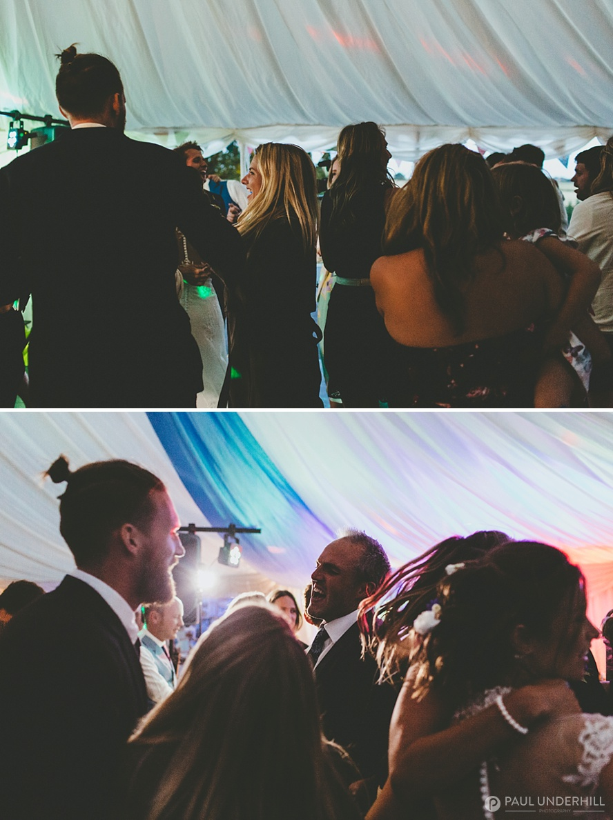 Wedding photography guests dancing