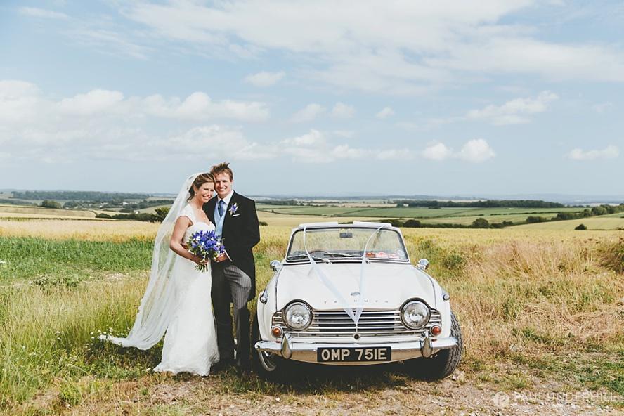 Wedding portraits on farm in Dorset