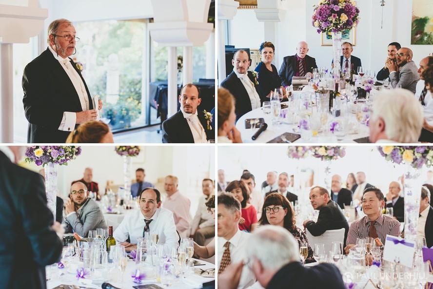 Wedding speeches candid portraits