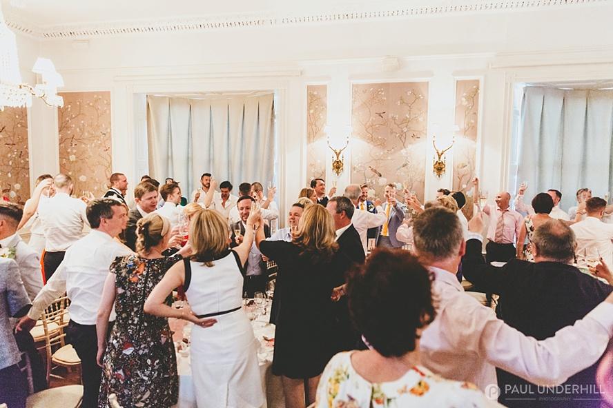 Wedding toast during speech