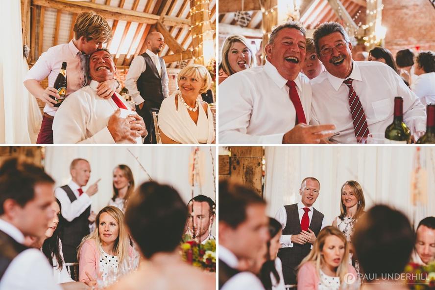 Candid portraits wedding guests