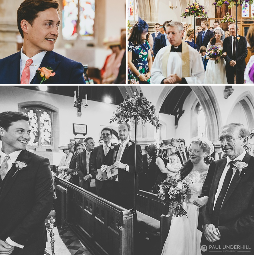 Child Okeford St Nicolas Church wedding