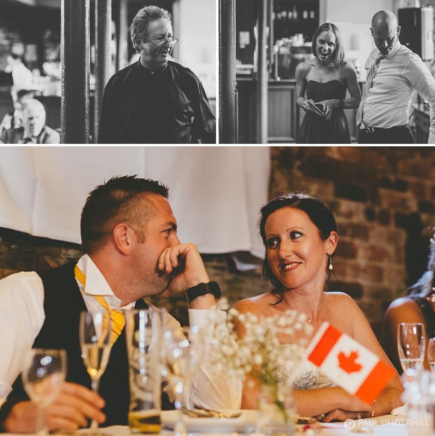 Creative documentary of wedding speeches