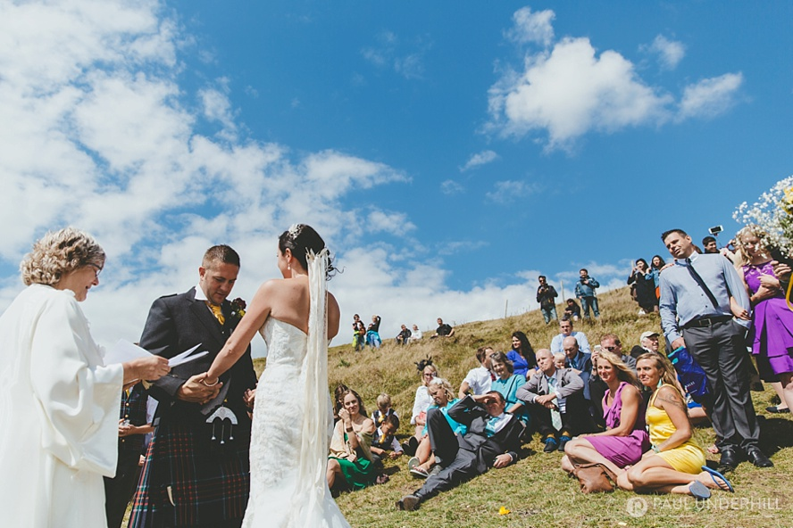 Creative photography of Dorset wedding