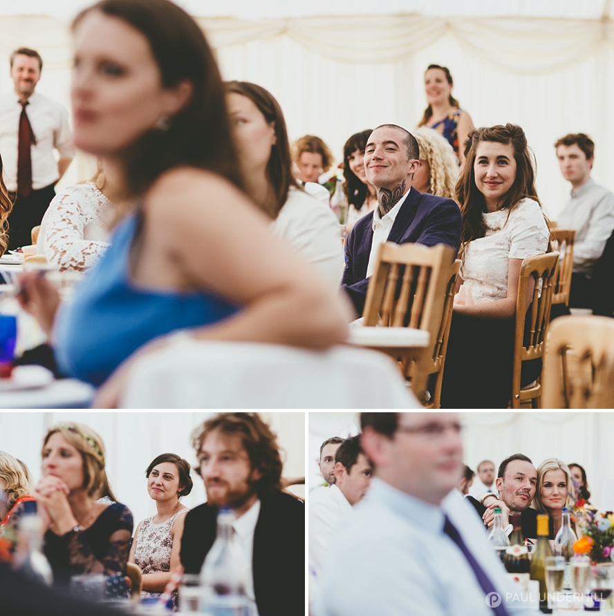 Creative photography of wedding guests