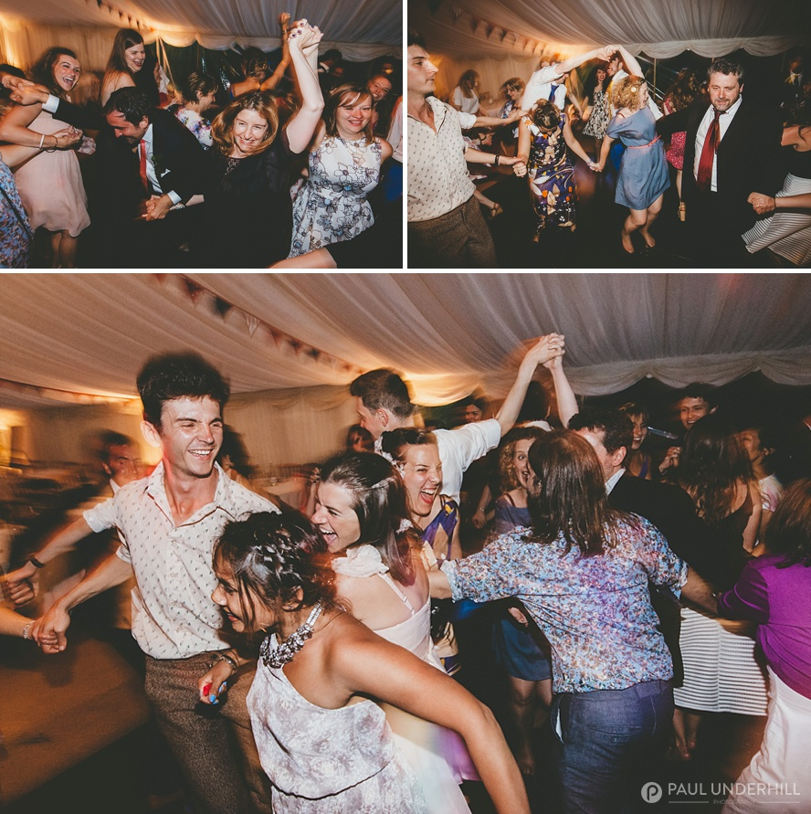 Creative photography of wedding reception