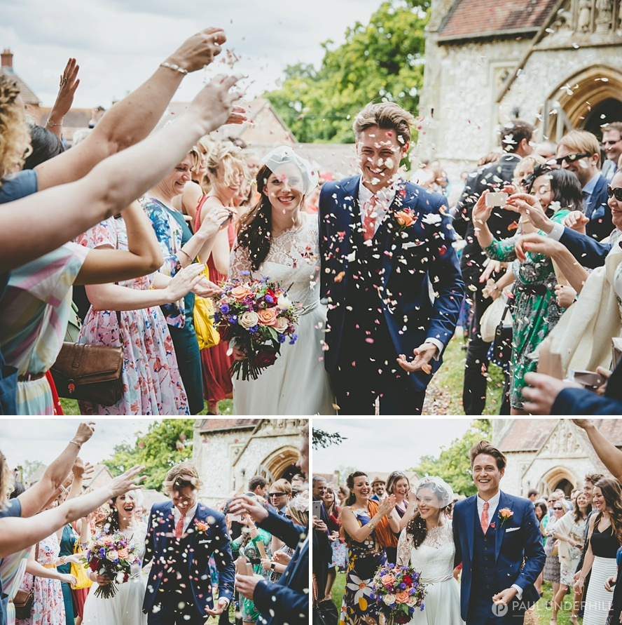 Creative wedding action photography
