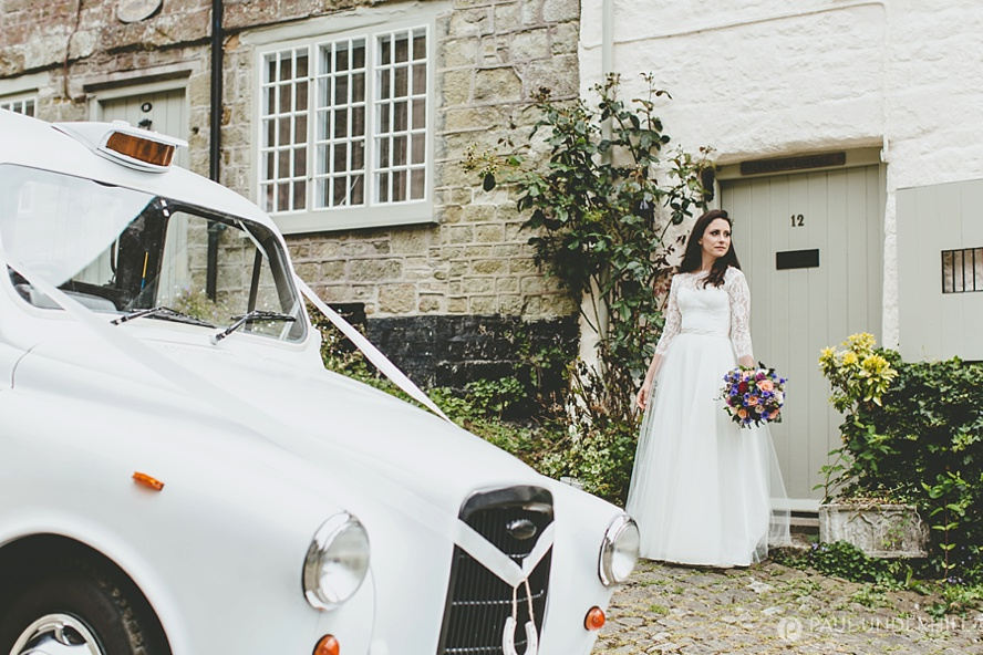 Creative wedding portrait in Shaftesbury