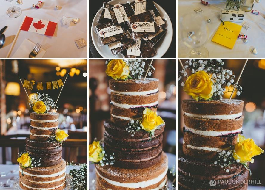 DIY naked wedding cakes