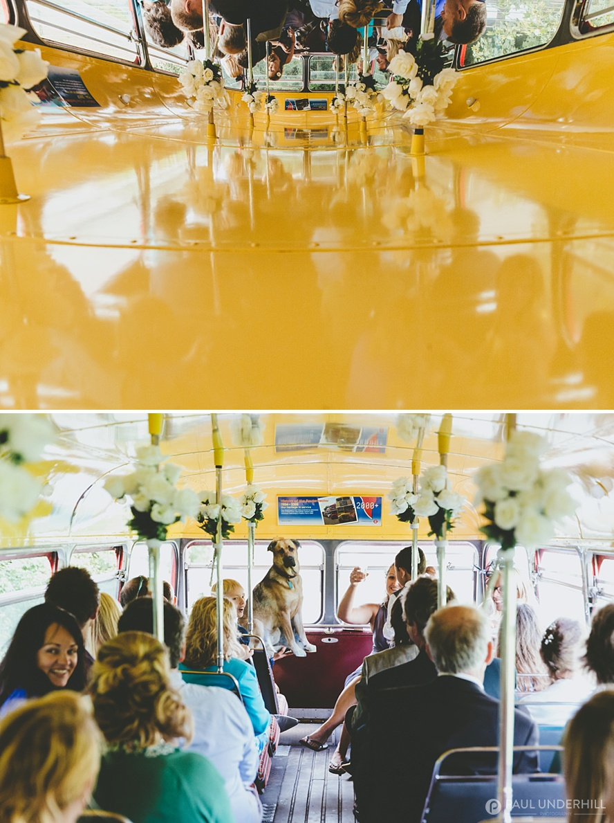 Documentary of wedding guests on bus