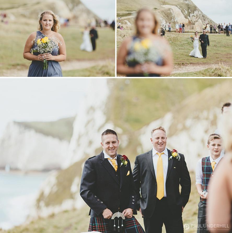 Dorset outdoor wedding ceremony