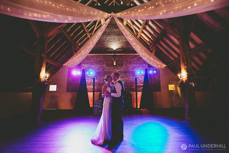 First dance Salisbury farm wedding