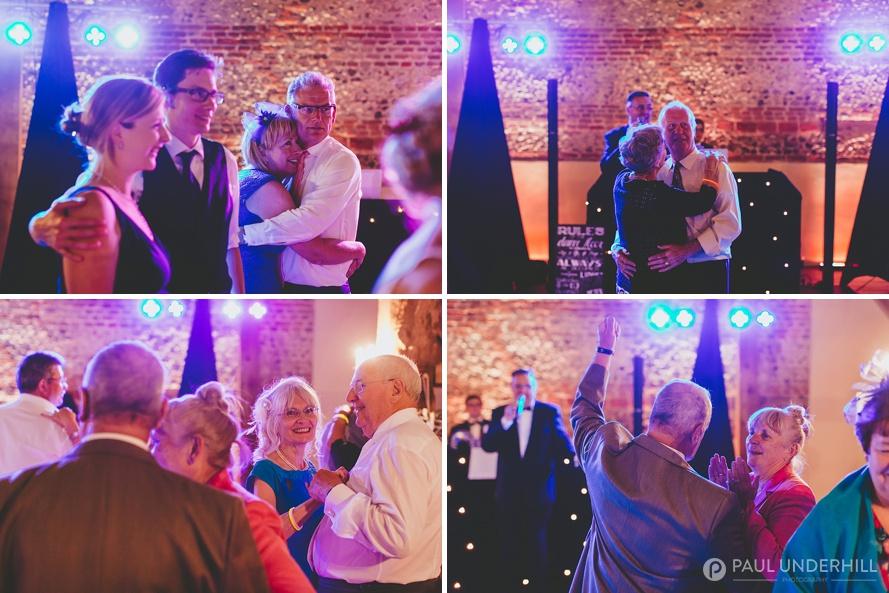 Guests dancing at Barford Park wedding