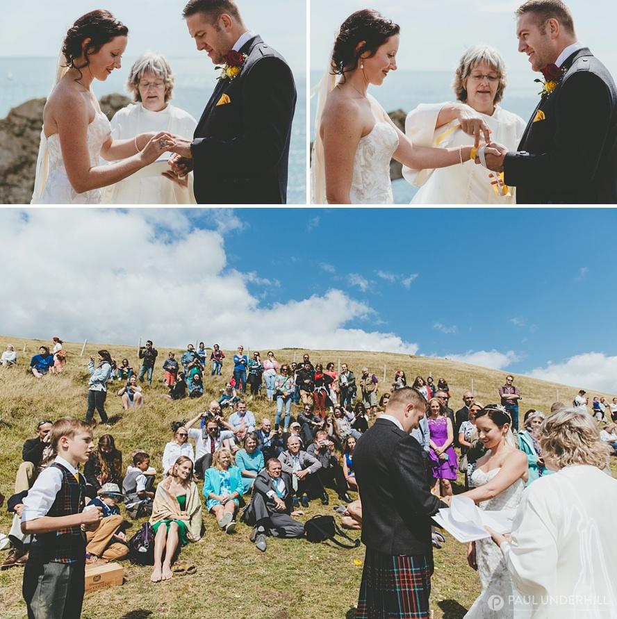 Handfasting ceremony in Dorset
