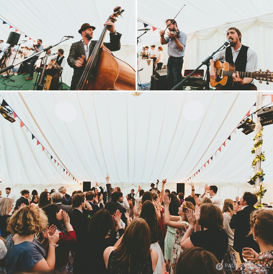 Live band marquee wedding