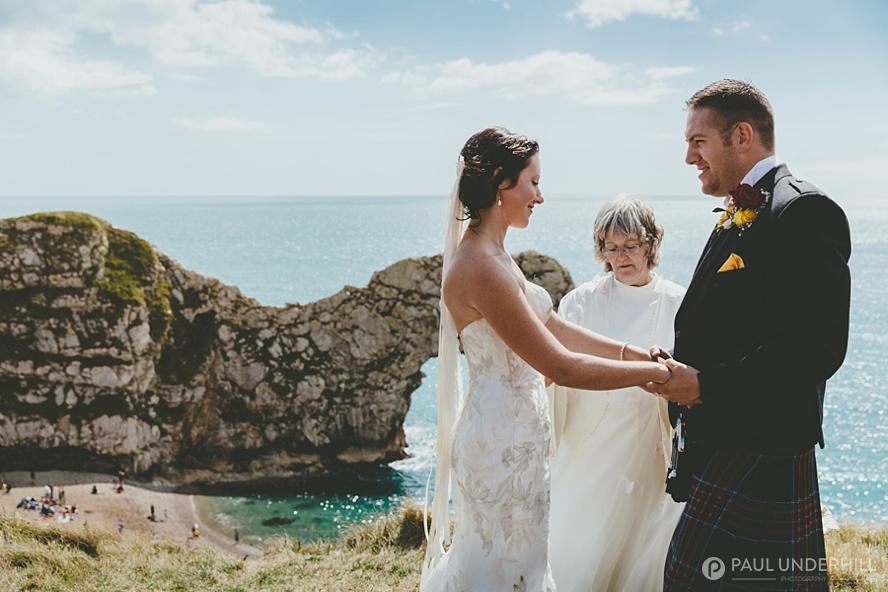 Outdoor wedding ceremony in Dorset