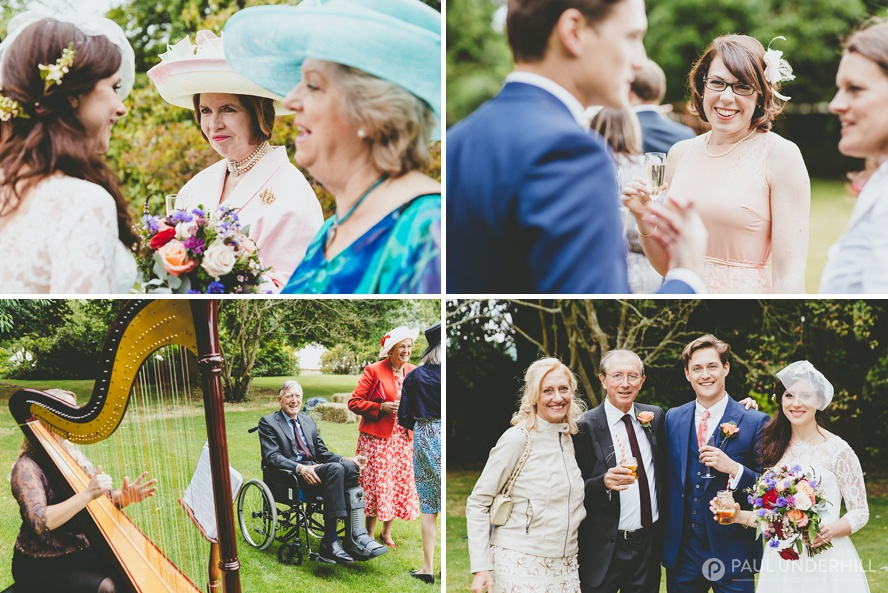 Outdoor wedding reception in Dorset