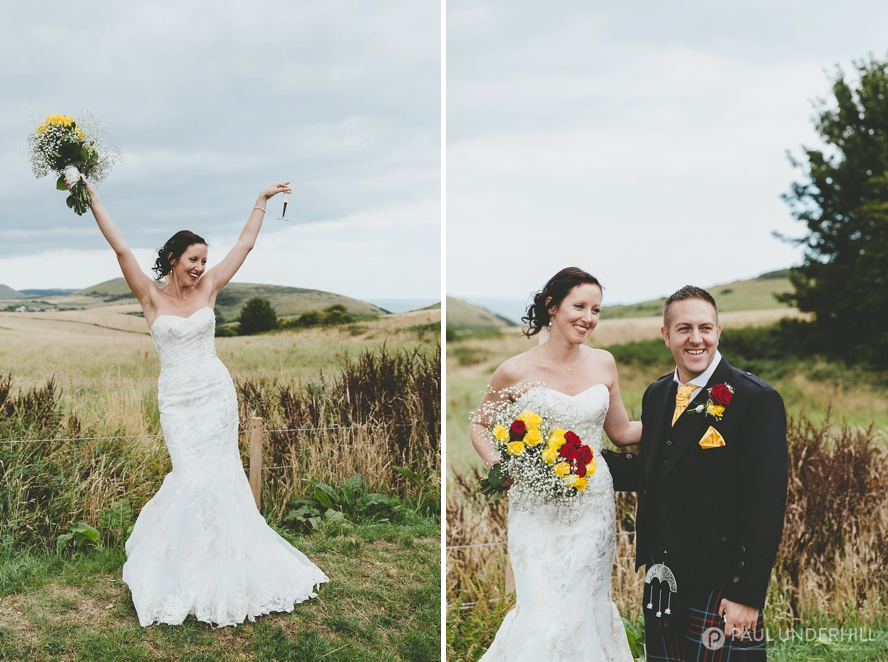 Relaxed wedding portraits
