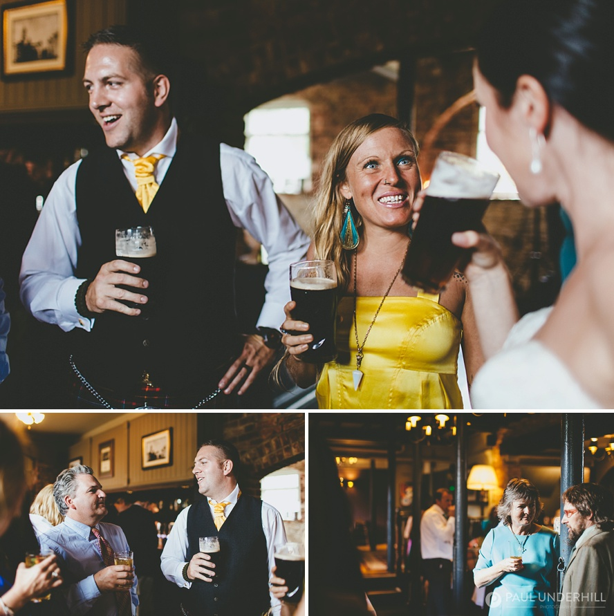 Reportage photos of wedding reception