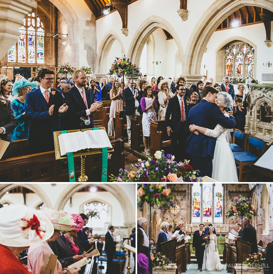 St Nicolas Church Child Okeford wedding ceremony