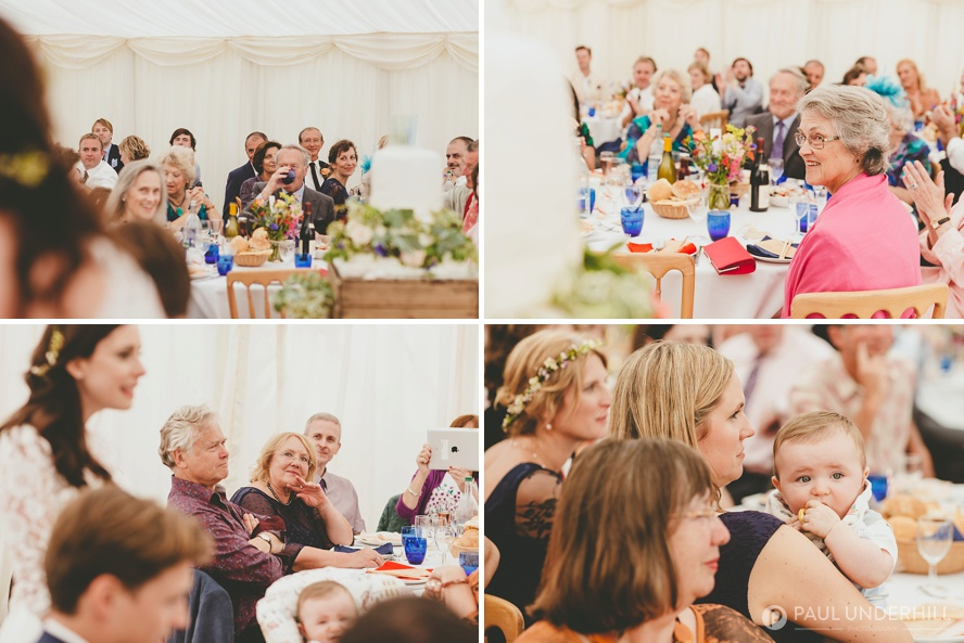 Summer marquee wedding photography