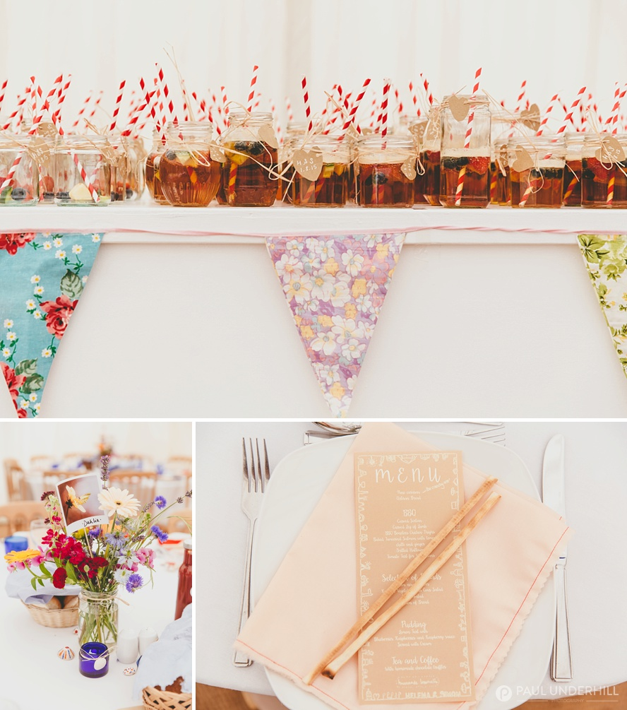 Vintage shabby chic wedding decorations