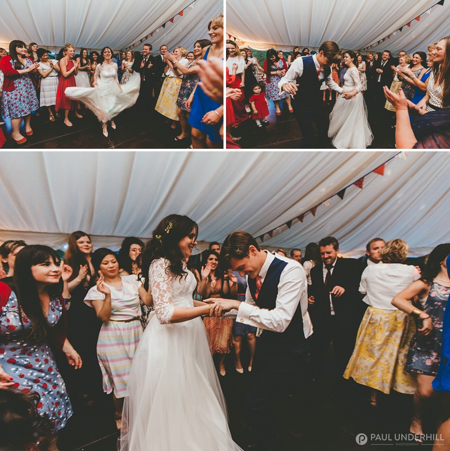 Wedding celebrations guests dancing