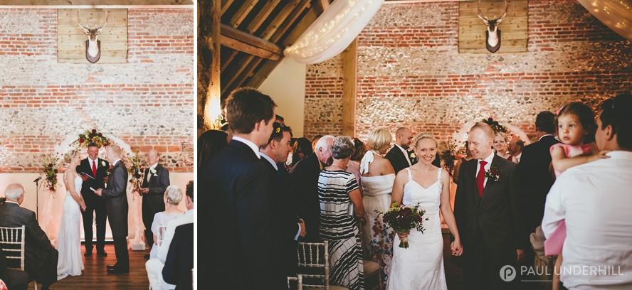 Wedding ceremony at Barford Park farm