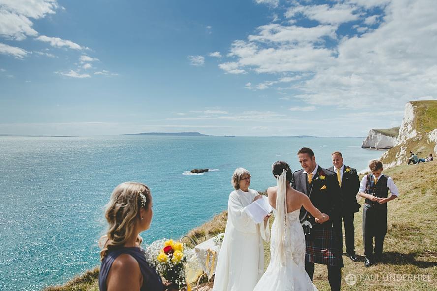 Wedding ceremony at Durdle Door Dorset