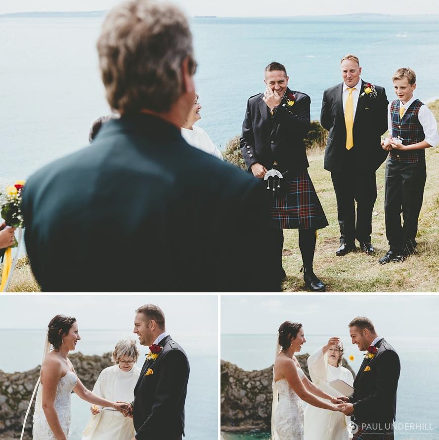 Wedding ceremony at Durdle Door in Dorset
