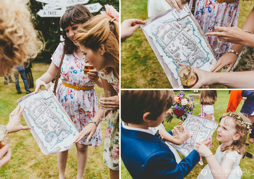 Wedding entertainment ideas treasure map