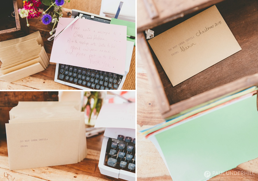 Wedding ideas typewriter for message book