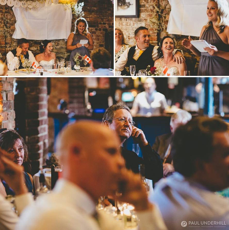 Wedding speeches documentary photography