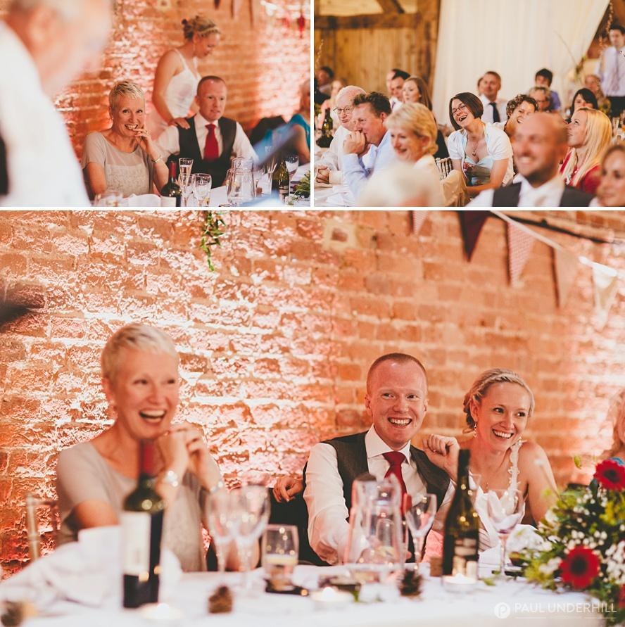 Wedding speeches farm wedding