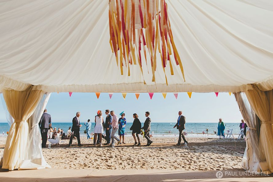 Beach weddings Bournemouth decorations