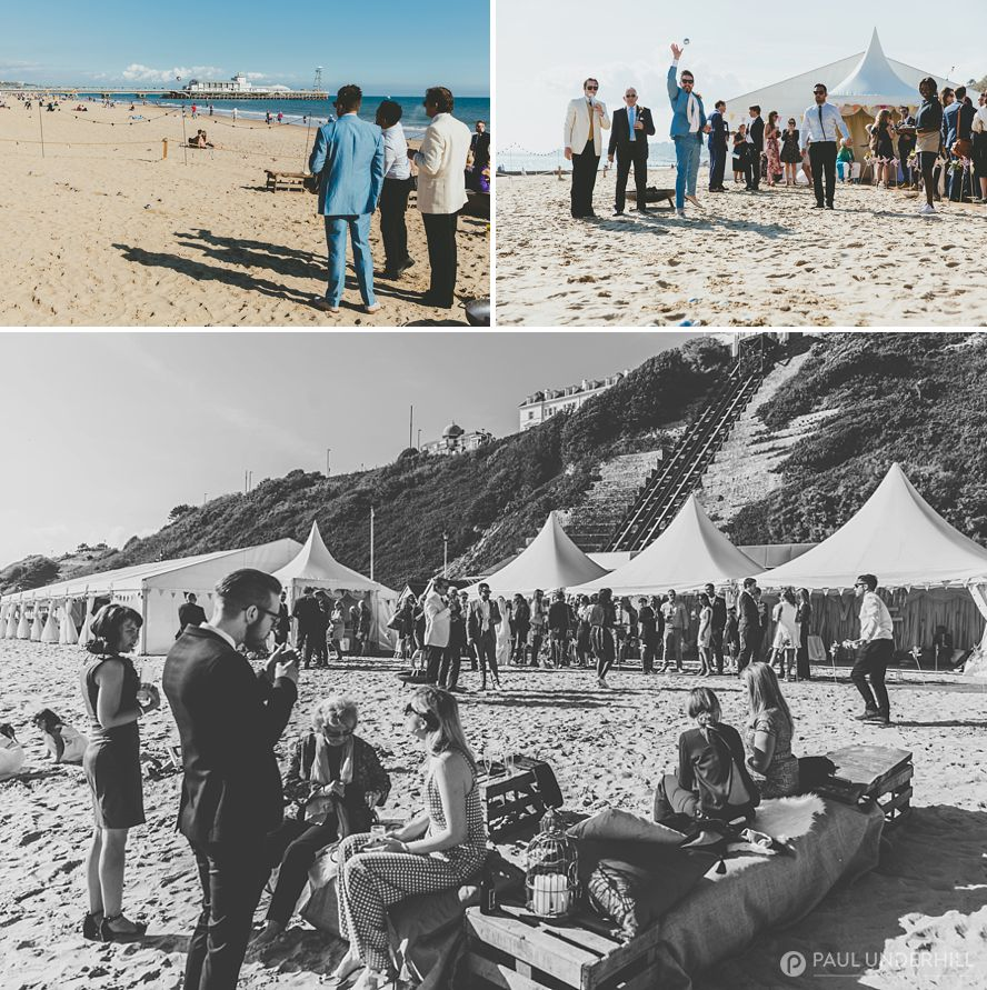 Beach weddings documentary photography