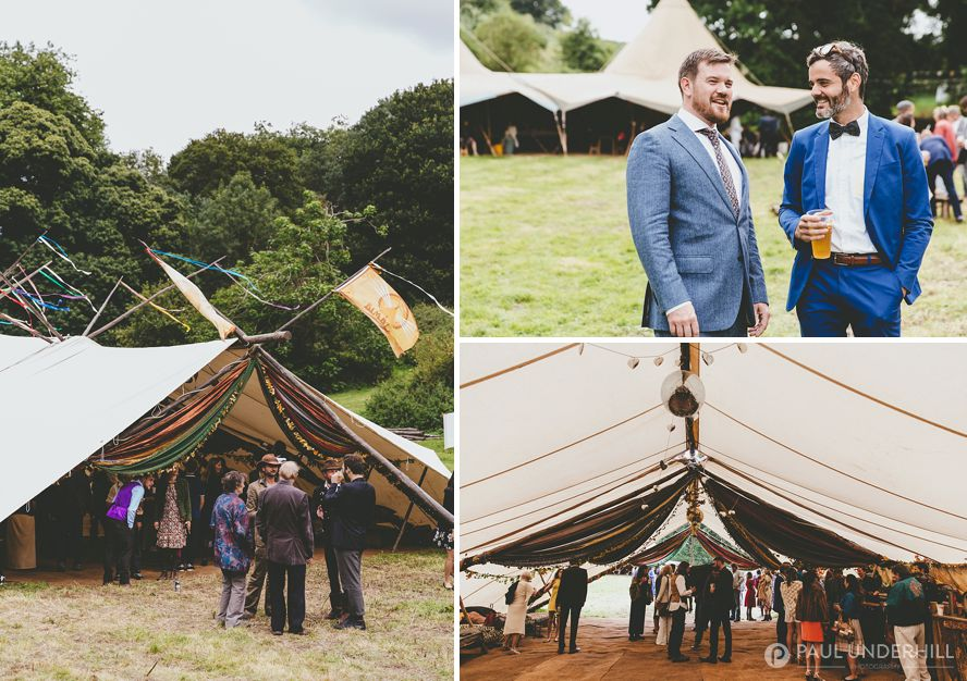 Bimble Inn at festival wedding in Dorset