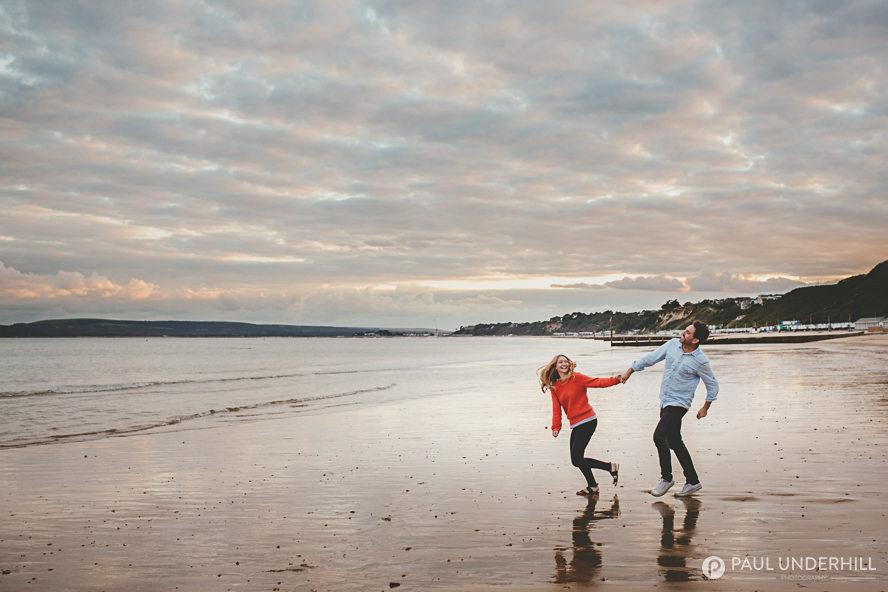 Bournemouth beach pre wedding shoot