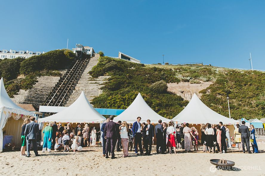 Bournemouth beach wedding drinks reception