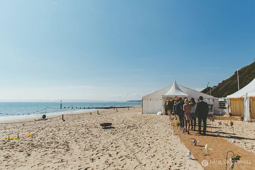 Bournemouth beach wedding photography