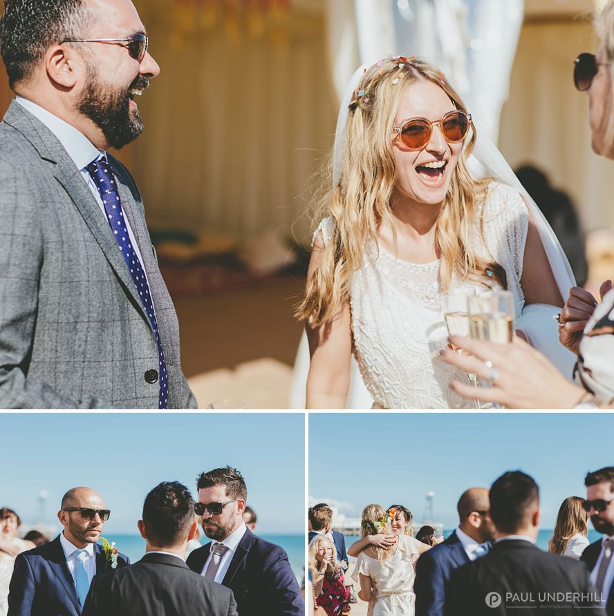 Bournemouth beach wedding reception