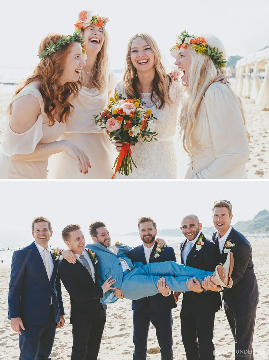 Bridesmaids and groomsmen portraits