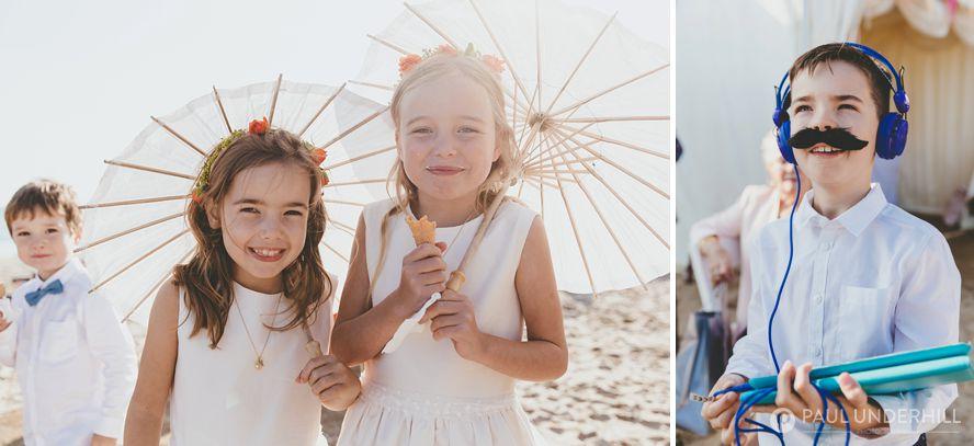 Candid photos of kids at wedding