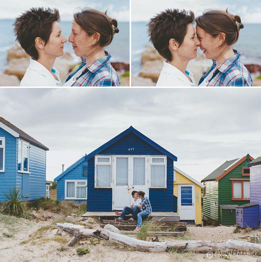 Colourful fun couple portraits
