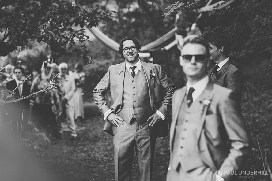 Creative black and white wedding photography
