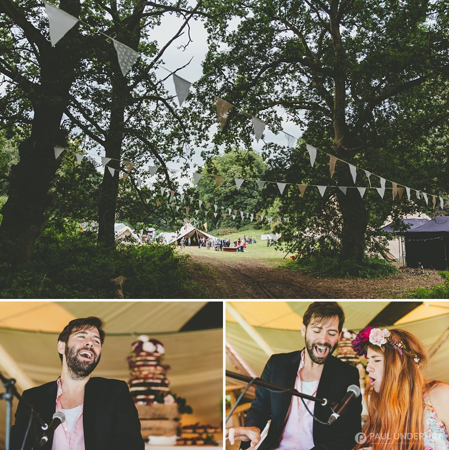 Creative documentary photography of Dorset wedding
